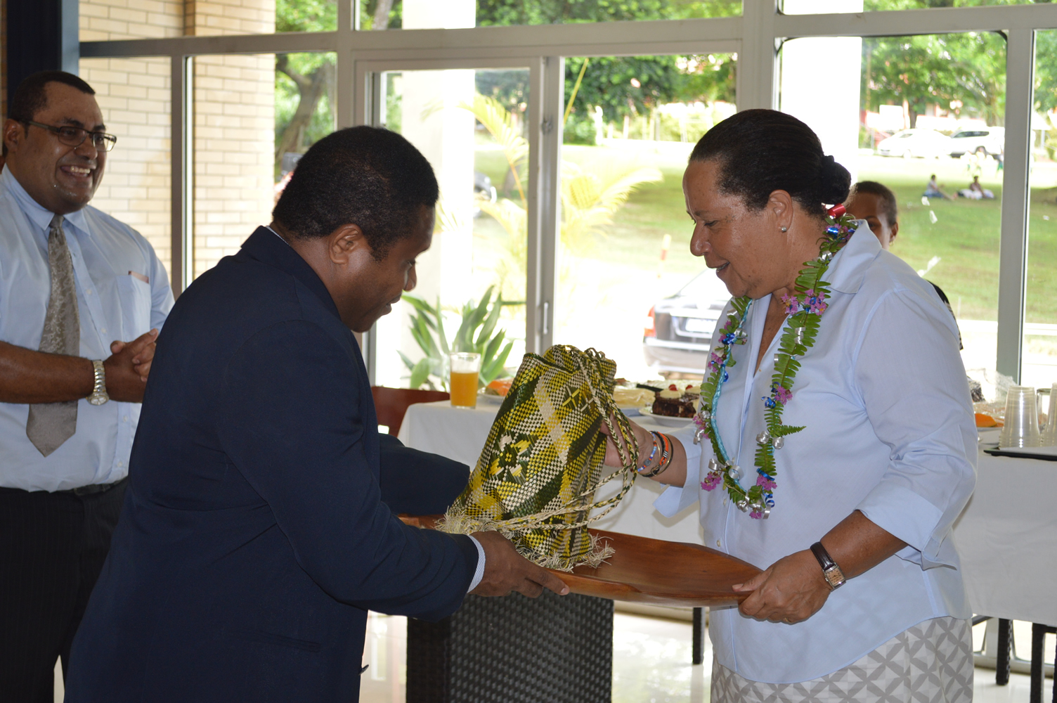 16 Feb 2015 - Dame Meg Taylor visits the MSG Secretariat 18