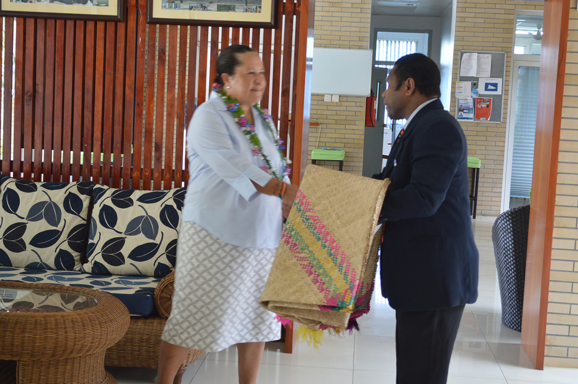 16 Feb 2015 - Dame Meg Taylor visits the MSG Secretariat 33